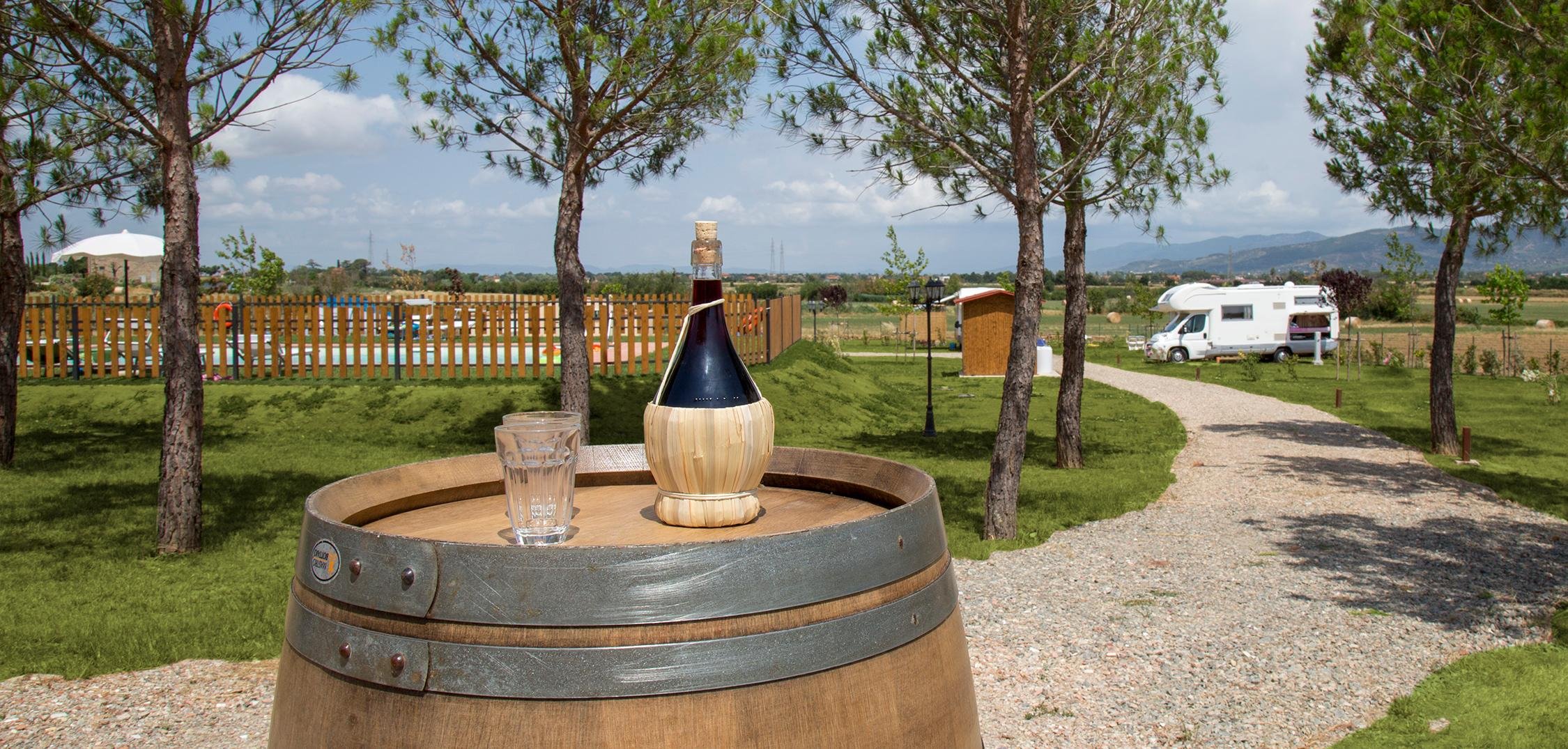 Campsite with pitches and parking areas in a farm |Cortona|Arezzo|Tuscany